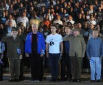 CUBA-LA HABANA-PRESIDE RAÚL MARCHA DE LAS ANTORCHAS EN LA CAPITAL CUBANA
